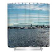 Harbor Panorama  Shower Curtain