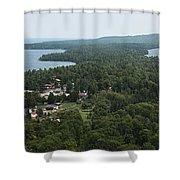 Harbor Panoramic Shower Curtain