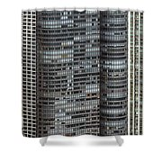 Harbor Point Condominium In Chicago Shower Curtain