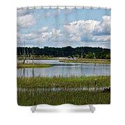 Harbor River Shower Curtain