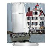 Harbor Sailor Shower Curtain