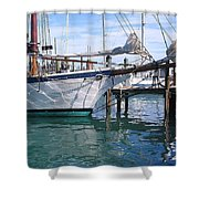 Harbor Scene Key West Shower Curtain