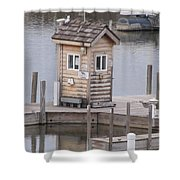 Harbor Shack Shower Curtain