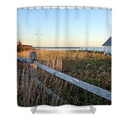 Harbor Shed Shower Curtain