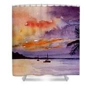 Harbor Sunset Kauai Hawaii Shower Curtain
