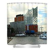 Harbor View With Elbphilharmonie Shower Curtain