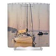 Harborside At Sunrise 3880 Shower Curtain