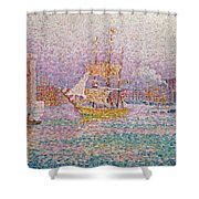 Harbour At Marseilles Shower Curtain