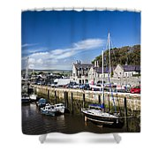Harbour At Port Erin Shower Curtain