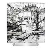 Harbour Boats Shower Curtain