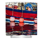 Harbour Reflections 5 - June 2015 Shower Curtain