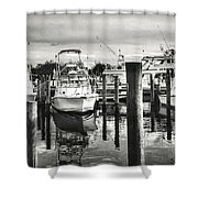 Harbour Scene Shower Curtain