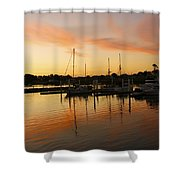Harbour Sun Set Shower Curtain