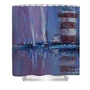 Harbour Town Sail Shower Curtain