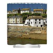 Harbourside Buildings - Porthleven Shower Curtain