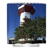 Harbourtown Lighthouse Shower Curtain