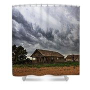 Hard Days - Abandoned Home On West Texas Plains Shower Curtain