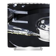 Hard Disk Shower Curtain
