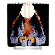 Hard Hat-2a Shower Curtain
