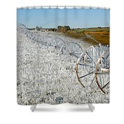 Hard Land Farming Shower Curtain
