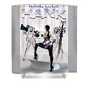 Hard Luck Hank--quadrad Shower Curtain