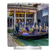 Hard Rock Cafe Venice Gondolas_dsc1294_02282017 Shower Curtain