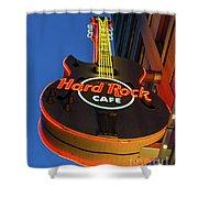 Hard Rock Guitar Detroit Shower Curtain