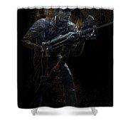 Hard Rock Mining Man Shower Curtain