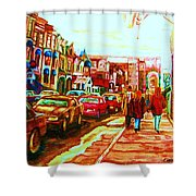 Hard Rock  On Crescent Shower Curtain