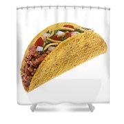 Hard Shell Taco Shower Curtain