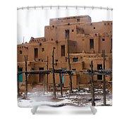 Hard Winter Shower Curtain