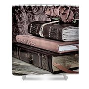 Hardcover Books Shower Curtain