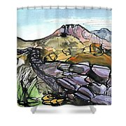 Hardknott Roman Fort Shower Curtain