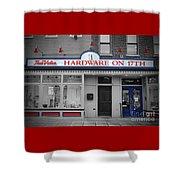 Hardware On Seventeenth Shower Curtain