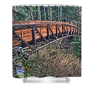 Hardy Creek Bridge Shower Curtain