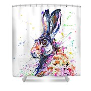Hare In Grass Shower Curtain