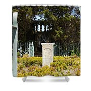 Harkness Garden Statue 1 Shower Curtain