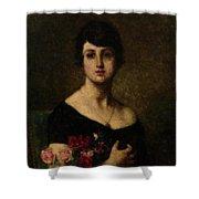 Harlamoff, Alexei 1840-1925 Female Portrait Shower Curtain