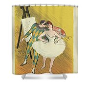 Harlequin And Columbine Shower Curtain