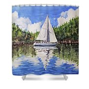 Harlequin At Sucia Shower Curtain