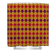Harlequin Gold Purple Coral Shower Curtain