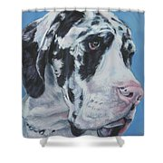 harlequin Great Dane Shower Curtain