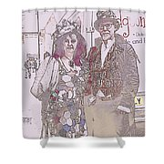 Harlequin Love Shower Curtain