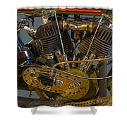 Harley 1918 Cycle Engine Shower Curtain