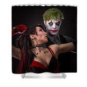 Harley And The Joker Shower Curtain