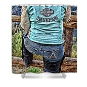 Harley Chick Shower Curtain