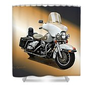Harley Classic Gold Shower Curtain