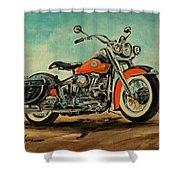 Harley Davidson 1956 Flh Shower Curtain