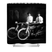 William Harley And Arthur Davidson, 1914 -- The Founders Of Harley Davidson Motorcycles Shower Curtain