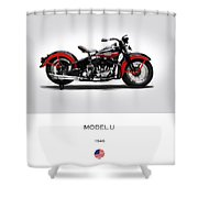 Harley Davidson Model U Shower Curtain